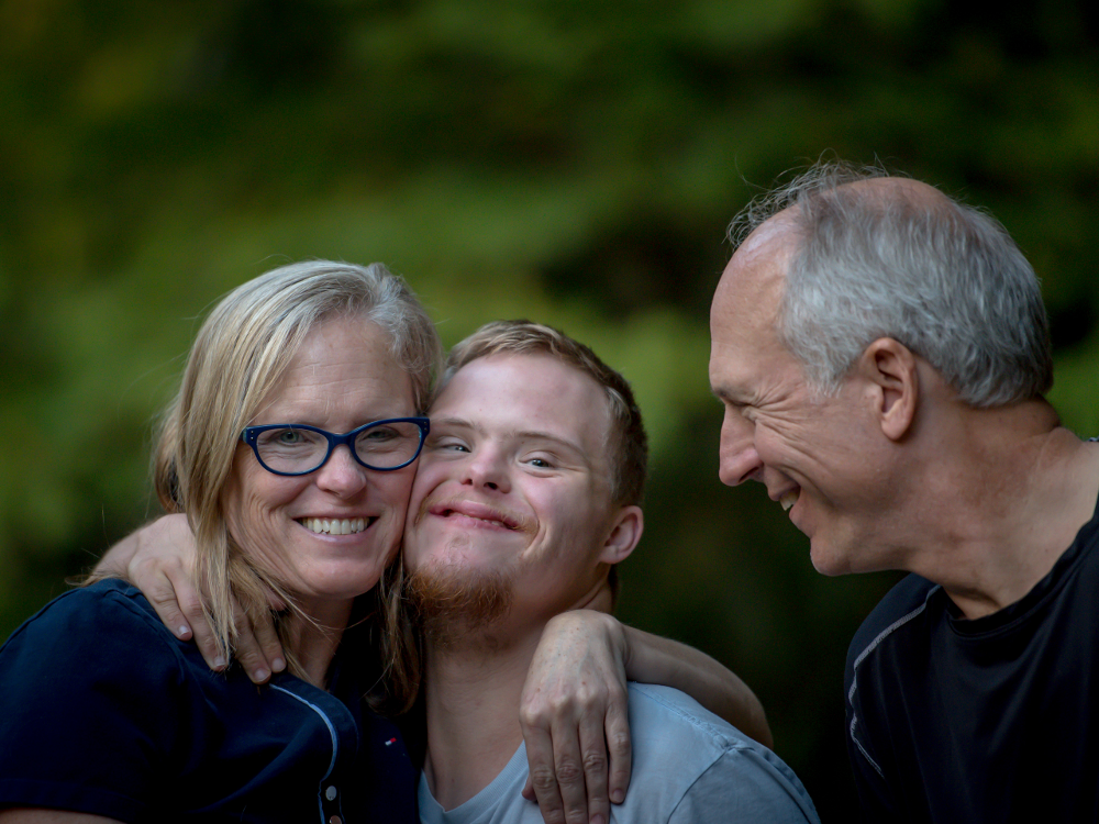 Person with Disability with his Parents
