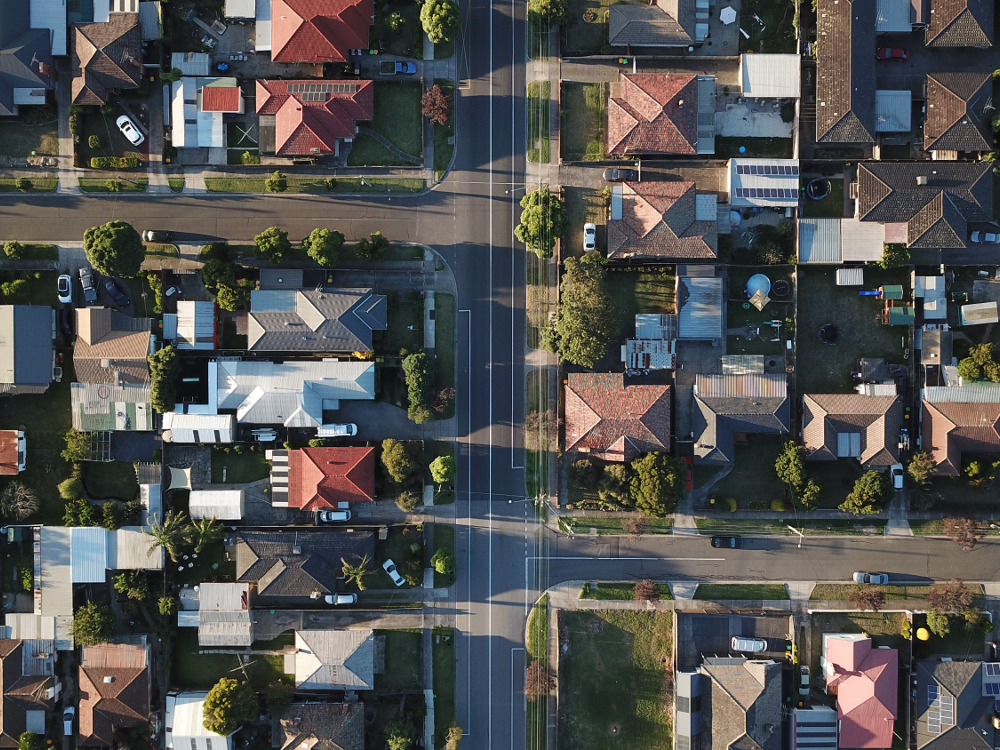 Air View of Houses