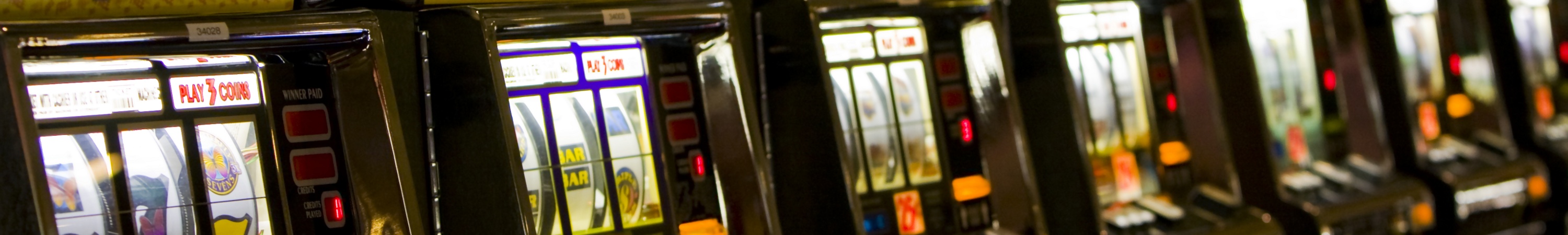 Line of Electronic Gaming Machines (Pokies)