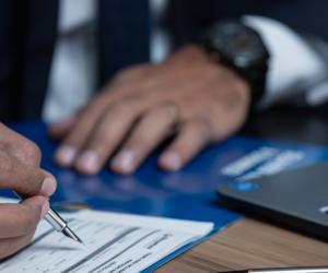 Bureaucracy, Professional with Paperwork