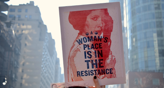 Womens March, 'A Woman's Place is In the Resistance' Sign